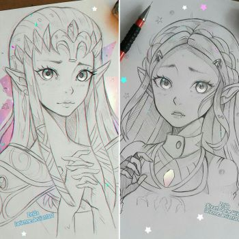 +Zelda - 1 or 2!+ by larienne