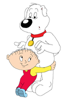 Brian and Stewie in Terrytoons style by GrishamAnimation1