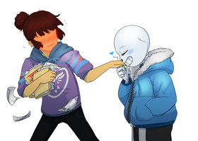 Sans the Distraction by GamblingFoxinaHat
