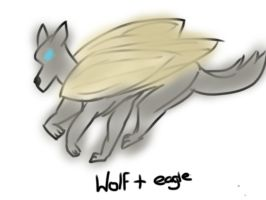 Wolf/eagle hybrid by TheRealt0oth1e5s
