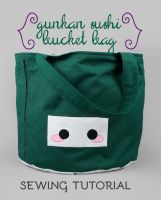 Sewing Tutorial: The Gunkan Sushi Bucket Bag by SewDesuNe