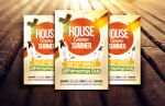 House Game Summer Party/Club Flyer Template by Dannygdesigns