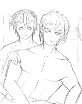 wip | vlados and orion by ezrin-the-artist