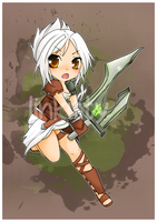 Chibi Riven - League of Legends by linkitty