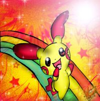 Plusle Rainbow by PokeHeart