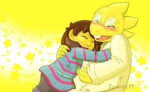Hug Series: Alphys by Eggo-in-Ohio