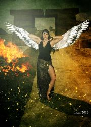 Winged goddess Isis by Julianez