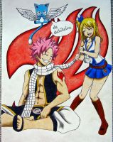 Natsu, Lucy i Happy by angelwithoutsoul89