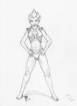 Super Heroine wip1 by Gadgetronic