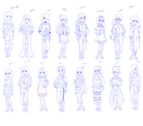 Sweets Themed Naruto Collab Adoptables - 4 LEFT by mistressmaxwell