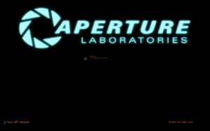Aperture Console Logon screen by trebory6