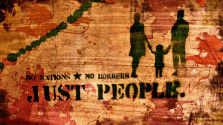No Nations. No Borders. Just People by Quadraro