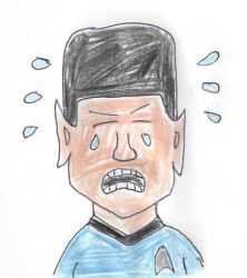 Sad Mr. Spock by dth1971