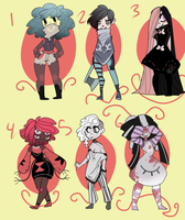 Creepypasta Adopt Batch (CLOSED) PAYPAL by Claw-kit