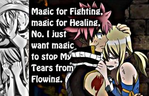 Natsu and Lucy, Magic For Tears by Xela-scarlet