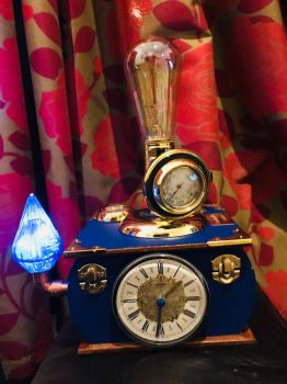Royal blue Steampunk Ovdiem lamp  by ovdiem