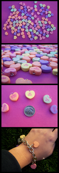 Valentines Heart Candy Charms by LastStringOfLovely