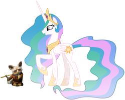 Princess Celestia and Shifu by iamnater1225