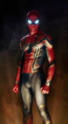 Iron Spider Armor Avengers: Infinity War (fan art) by SanyLebedev