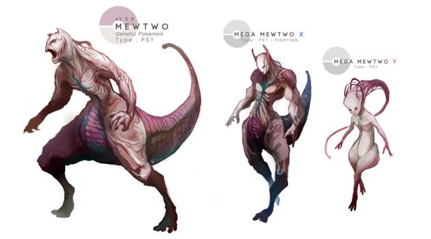 MEWTWO + Mega Evolutions by MrRedButcher