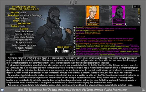 [Earth-27: Oracle Files] Pandemic by Roysovitch