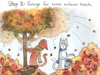 Kitty and Coco's Guide to Thanksgiving: Step Two by katnips