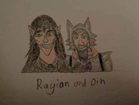 Rayian makes Oin Smile by woodywoodwood