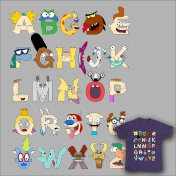Nickelodeon Alphabet by mbaboon