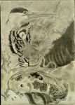 Dragon, Tiger, Crane, and Koi by NateDtail