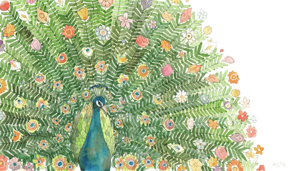 Flowering Peacock by driftwoodwolf
