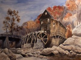 Water Wheel by ArtistShane2012
