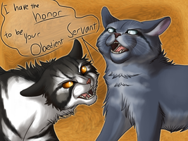 43.Your Obedient Servant - Bluefur and Thistleclaw by Jayie-The-Hufflepuff
