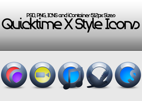 Quicktime X Style Icons by SuiteDesign