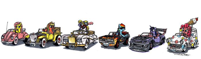 My little Racers by Sketchywolf-13