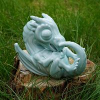 Porcelain Baby Dragon by mattbag