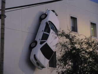 Car on the wall by Jarren007