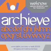 archieve font by weknow by weknow