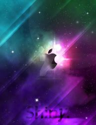 Galaxy Apple Poster by lonelyybunnyy