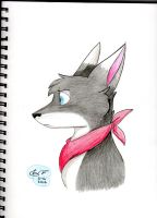 Wolf in Scarf by Flamofox