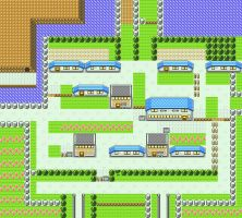 Cerulean City in Pokemon Yellow for GBC by CK47