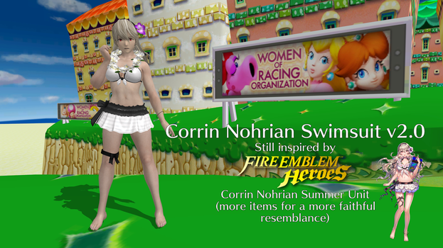 Corrin Nohrian Swimsuit v2.0 by FatalitySonic2