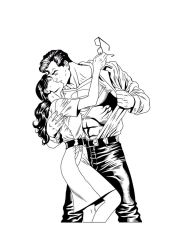 Superman and Lois Inks by frostdusk