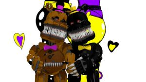 Nightmare x FredBear {MMD} by Emma5Fabulous