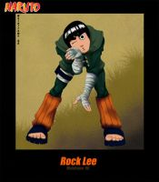 Rock Lee by TheDyeIsCast