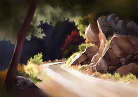 Hiking trail - Landscape study by Aliciane