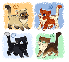 Kitty Adopts by Caerii