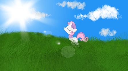 Sweetie Belle Wallpaper by MoonGazerThePony