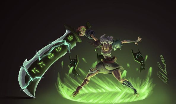 RIVEN painting by pixelsama