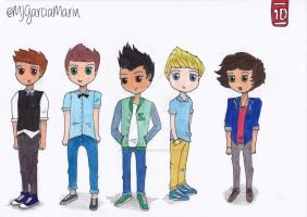 One Direction Cartooned. by MJSweetDreams