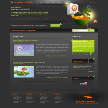 Wordpress  Blog -Beta- by imagineadesign